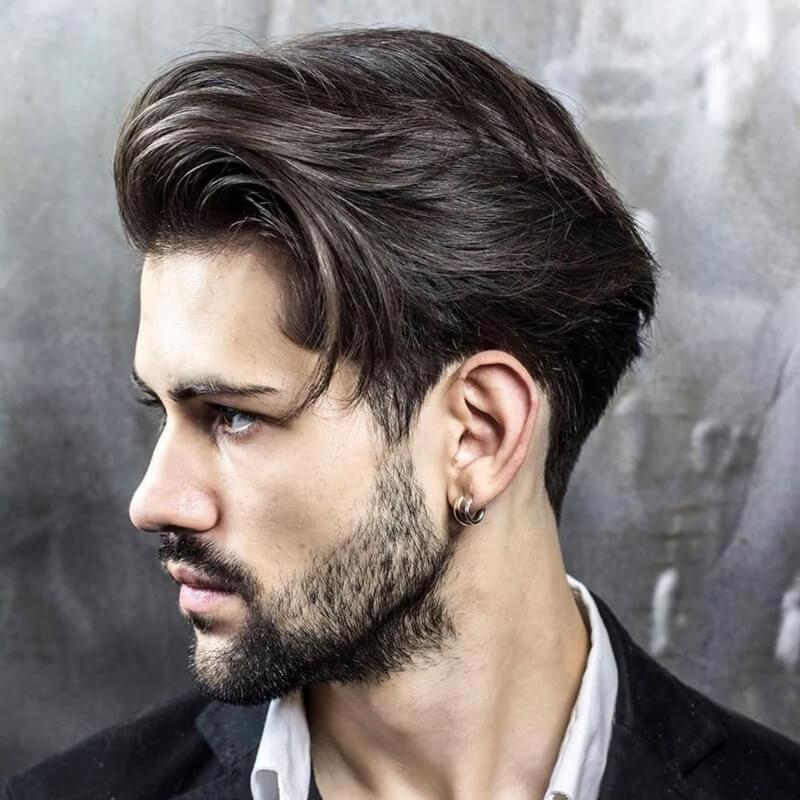 Kiểu tóc namLong Fringe + Undercut
