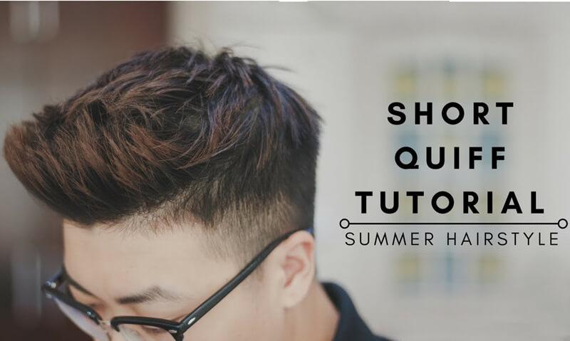 hướng dẫn tạo kiểu tóc short quiff
