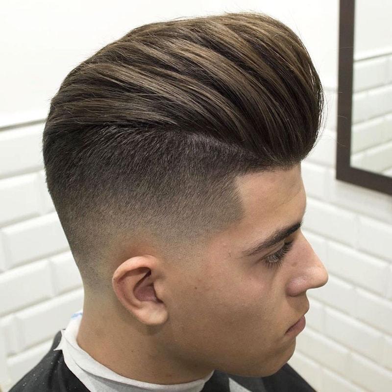 Kiểu tóc namPomp + Burst Fade