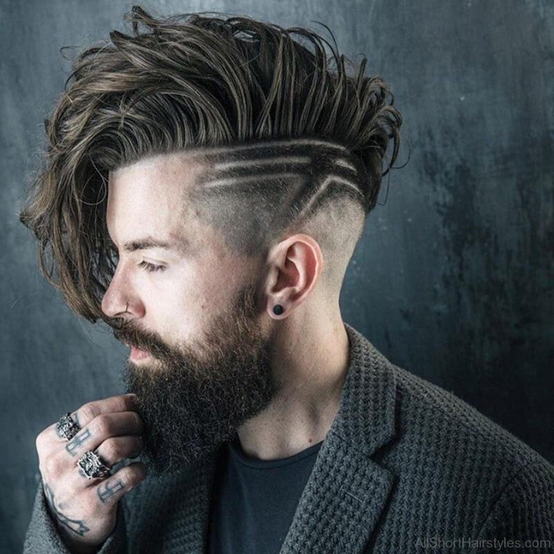 Kiểu tócUndercut + Long Hair + Beard