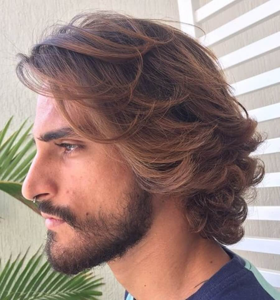 Uốn tóc nam dài
